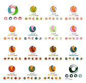 Set of modern circle, globe or sphere logo concept — Stock Vector