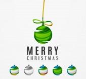 Set of abstract Christmas ball — Stock Vector