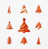 Set of abstract Christmas Tree — Stock Vector
