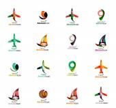 Set of abstract travel logo icons — Stock Vector