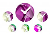 Set of abstract watch icon, — Stock Vector
