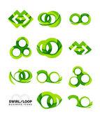 Set of infinity concepts, loop logo designs — Stock Vector