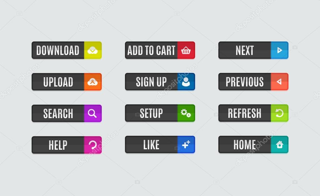 Кнопки дизайн сайт
