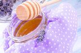 Lavender honey — Stock Photo
