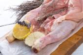 Trimming Chicken — Stock Photo