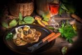 стейк с картофельным кнедликом — Стоковое фото