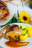 Baked chicken — Stock Photo