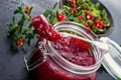 Cranberry jam — Stock Photo