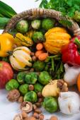 Horn with vegetables — Stock Photo
