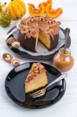 Pumpkin cheesecake — Stock Photo