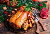 Tasty Christmas duck — Stock Photo