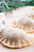 Tasty dumplings close up — Photo