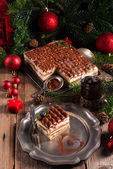 Christmas tiramisu — Stock Photo