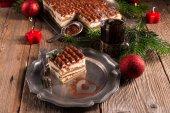 Christmas tiramisu — Stockfoto