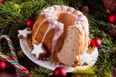 Christmas Madeira cake — Stock Photo
