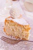 Coconut quark cake — Stock Photo