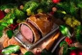 Beef Wellington as Advent creation — Stock Photo