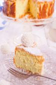 Coconut quark cake — Stock Photo