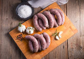 Home-made sausages — Stock Photo