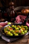 Honey caramelized brussels sprouts — Stock Photo