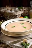 Sour rye soup — Stock Photo