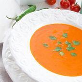 Paprika soup close up — Stockfoto