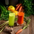 Freshly squeezed vegetable juices — Stock Photo #72451873