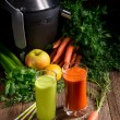 Freshly squeezed vegetable juices — Stock Photo #72451893