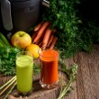 Freshly squeezed vegetable juices — Stock Photo #72529321