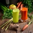 Freshly squeezed vegetable juices — Stock Photo #72615991