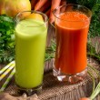 Freshly squeezed vegetable juices — Stock Photo #72616005