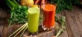 Freshly squeezed vegetable juices — Stock Photo