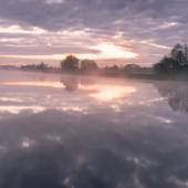 Morning on the Hunte river — Stock Photo