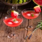 Vattenmelon juice med is — Stockfoto