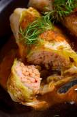 Cabbage rolls, young cabbage — Stock Photo