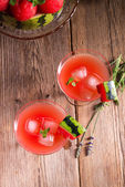 Watermelon juice with ice — Foto de Stock