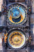 Famous astronomical clock Orloj in Prague — Stock Photo