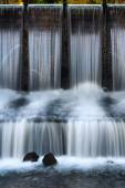 Cascade waterfall with stones — Stock Photo