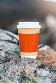 Coffee cup on natural background — Стоковое фото