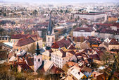 Arial view on Ljubljana city — Stock Photo