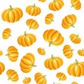 Pumpkin seamless background — Stock Vector