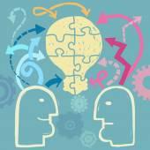 Teamwork concept — Stock Vector