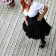Red hair girl in pin-up style — Stock Photo #63627559