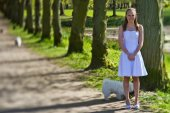 Girl on the day of confirmation — Stock Photo