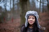 Cute girl in winter — Stock Photo