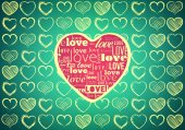 Heart for Valentines Day Background — Stock Photo