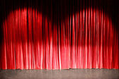 Curtain in a theatre — Stock Photo