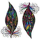 装飾的な羽 — ストックベクタ