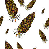 Decorative feathers — Cтоковый вектор