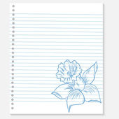 Sketch of a flower on notebook sheet — Vettoriale Stock